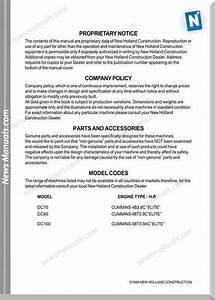 New Holland Dc70 Dc80 Dc100 Crawler Service Manual