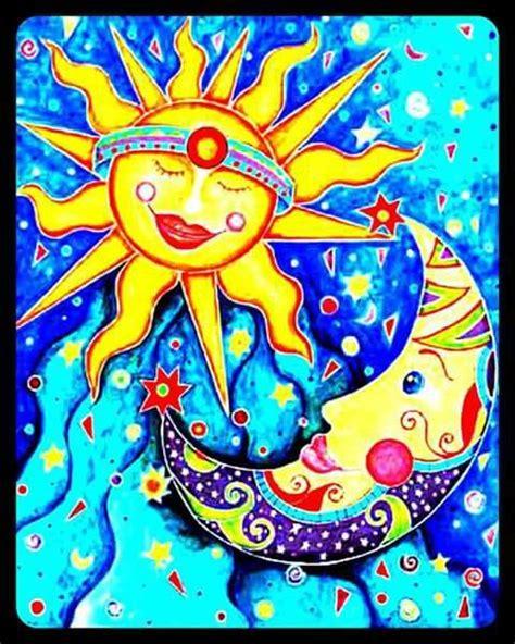 Sun & Moon Art | Moon stars art, Moon art, Sun art