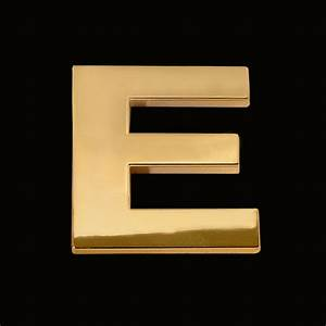 gold letter e 3cm chrome letter and sign With gold letter e