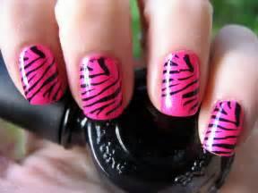 Zebra nails art my