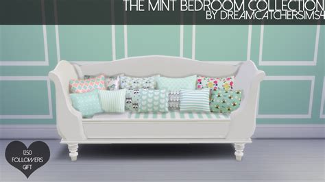 sims  blog  mint bedroom collection