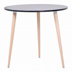 Table Cuisine Scandinave : table ronde scandinave bois design pour votre espace caf et cuisine ~ Melissatoandfro.com Idées de Décoration