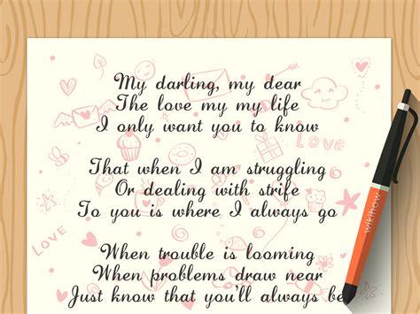 write  love poem   poems wikihow