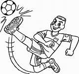 Coloring Ball Kicking Boy Soccer Sheets Colouring Cascao Boys Football Gcssi sketch template