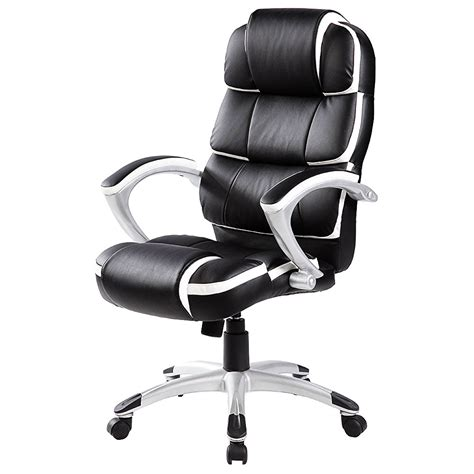 luxury designer computer office chair black with white