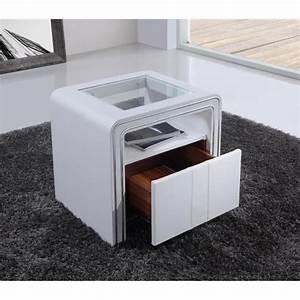 Table De Nuit Haute : table de chevet s85 blanc simili cuir achat vente table de chevet pas cher couleur et ~ Preciouscoupons.com Idées de Décoration