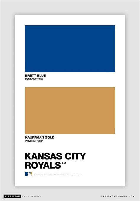 kansas city royals pantone color swatch sports
