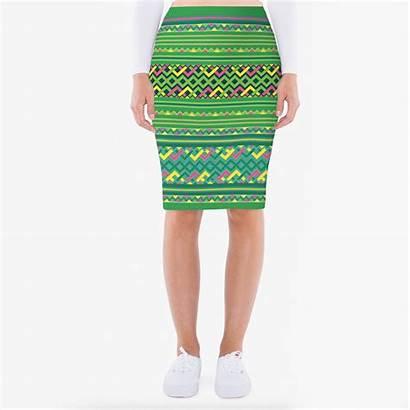 Hmong Pencil Skirt Printed Skirts