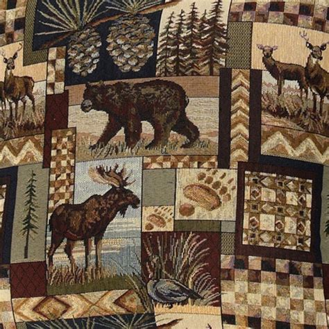 peters cabin rustic fabric collection