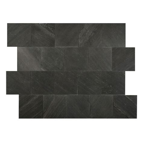 faststone black line 6 in x 6 in slate peel and stick