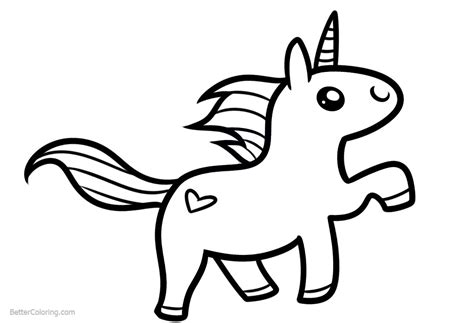 easy coloring pages chibi unicorn coloring pages easy clipart free printable