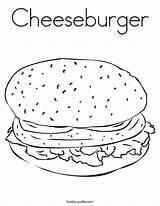 Coloring Cheeseburger Built California Usa sketch template