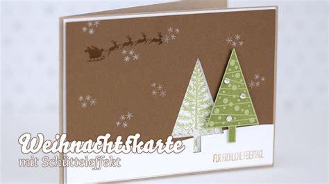 karte weihnachtskarte schuettelkarte youtube