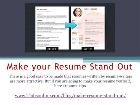 How To Make My Resume Title Stand Out by Make Your Resume Stand Out