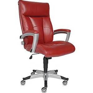 sealy roma leather executive office chair fixed arms red
