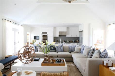 deep sectional sofa living room beach style  gray