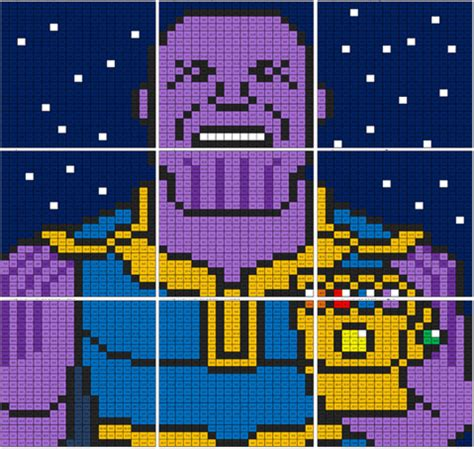 infinity war thanos subtraction mural coloring squared
