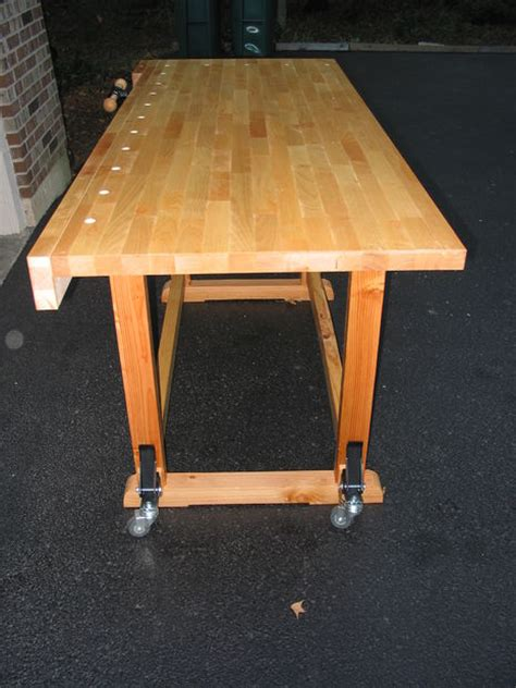 build  woodworkers workbench  learn mortise tenon