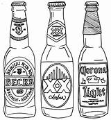 Beer Bottle Drawing Line Coloring Pages Drawings Bottles Alcohol Printable Tattoo Google Getdrawings Svg Drawn Printables Projects Expressions Carving Carafe sketch template