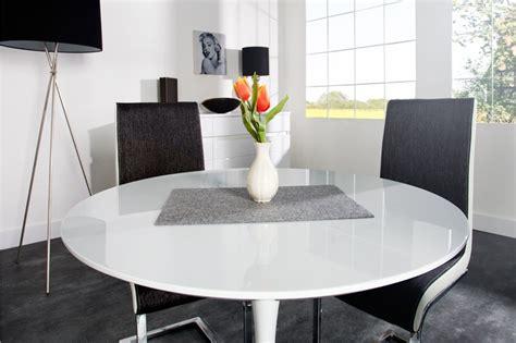 table de cuisine ronde blanche table ronde blanche avec pied central collection avec