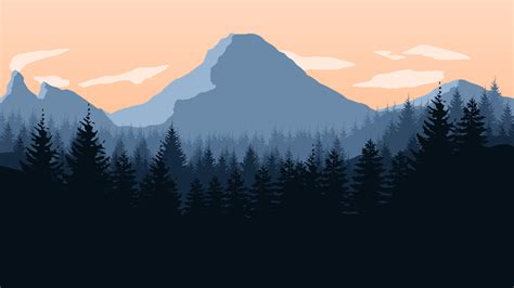Animated Mountain Wallpaper - firewatch mountains forest sky landscape artwork