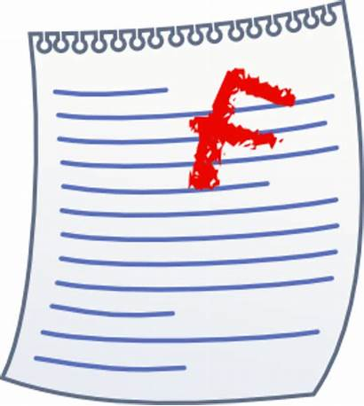 Clipart Test Paper Failed Fail Papers Cliparts