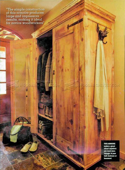 rustic armoire plans woodarchivist