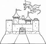 Castle Coloring Pages Printable Dragon Bouncy Drawing Miscellaneous Getdrawings Ecosia Ages Middle sketch template