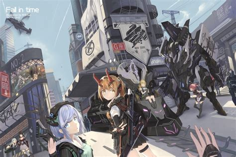 anime girls sci fi robots mecha