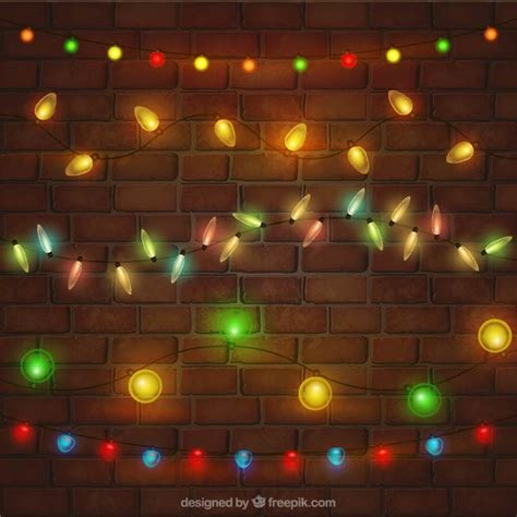 kinds of christmas lights set vector free download