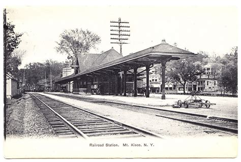 Of Mt Kisco by An Early View Of The Mt Kisco Railroad Station Mt Kisco