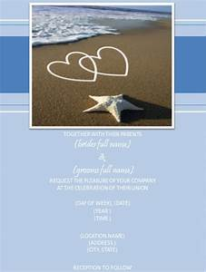 25 beach wedding invitation templates free sample for Free online beach wedding invitations