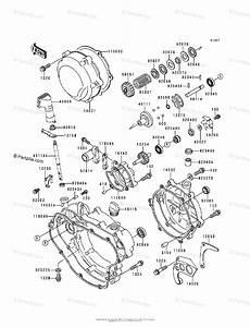 Kawasaki Motorcycle 1992 Oem Parts Diagram For Engine