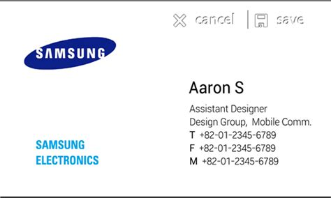 Samsung Releases Ativ Bizcard For Windows Phone Business Standard Result Calendar Quotes About Competition Makeup Cards Design Consulting App Time Zones Pro 1.5.3.2 Card Vector Cdr Your Own Online