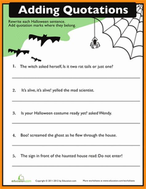 quotation punctuation worksheet education