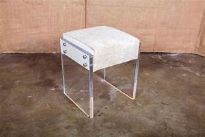 Acrylic Lucite Vanity Stool Home Design Matchmaker For