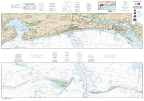themapstore noaa charts mississippi georgia louisiana intracoastal waterway  gulf