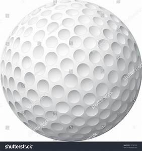 Golf Ball Realized Vector Illustration Stock Vector ...