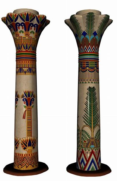 Egyptian Egypt Columns Forgetmenot Publicat Unknown