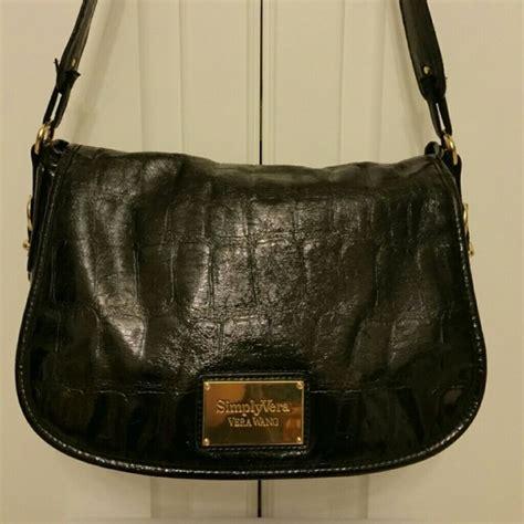 vera wang bags shiny black bag poshmark