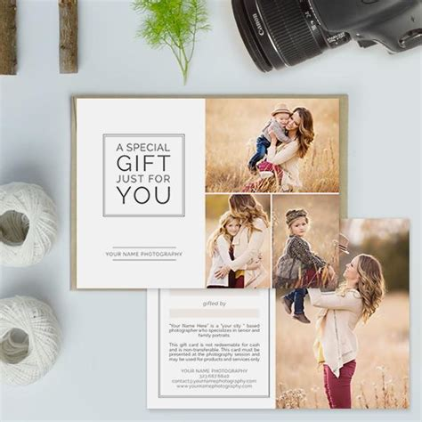 photography studio gift certificate templates gift
