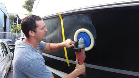 How To Polish A Fiberglass Boat Hull by How To Quickly Buff Your Boat Basics Youtube