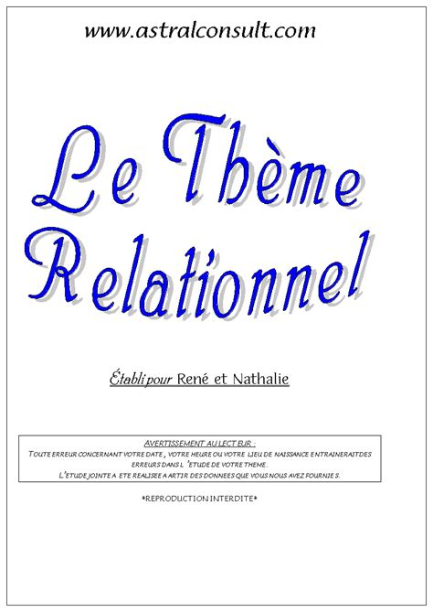 exemple thme relationnel page 1