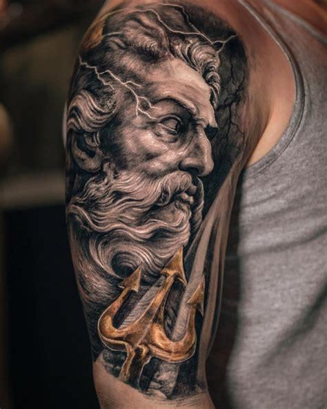 pin  brandon evans  poseidon tattoo tattoos