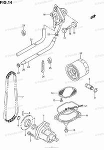 Suzuki Motorcycle 2002 Oem Parts Diagram For Oil Pump    Fuel Pump  Model K1  K2  K3  K4