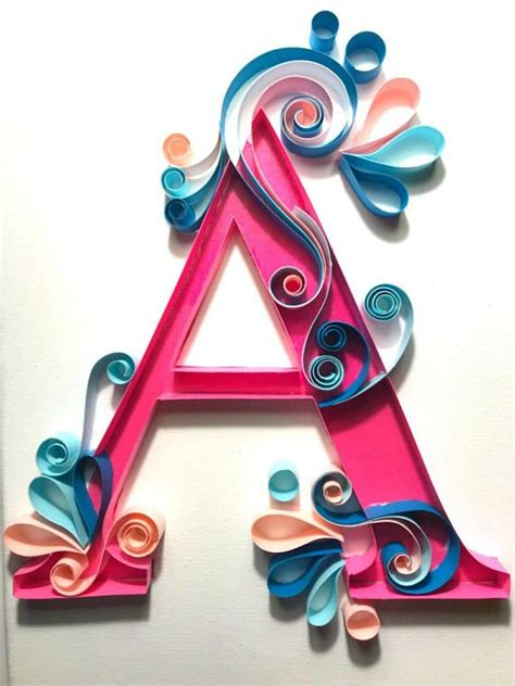 paper quilled letter   arts  crafts quilling
