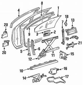 1991 Buick Roadmaster Channel  Assembly - Side Window  Chnl  Wd  Guide  Retainer  Run
