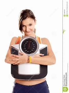 Athletic Girl With A Scale Stock Photos - Image: 13854153