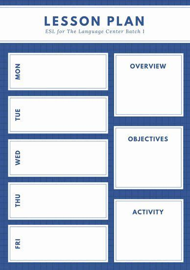 english lesson plan template    images