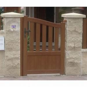 Portail En Fer Lapeyre : portillon battant naterial moellan imitation bois ~ Premium-room.com Idées de Décoration